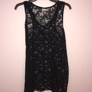 NWOT black bathing suit cover-up